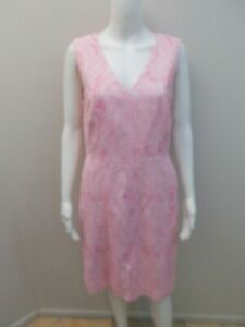 DAVID-LAWRENCE-PINK-WHITE-OCCASIONS-DRESS-WITH-POCKETS-SIZE-12-Q1289