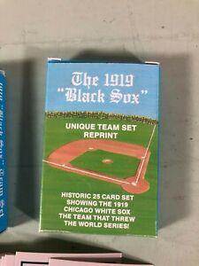 THE-1919-BLACK-SOX-Unique-Team-Set-Reprint-Card-Set-25-Cards