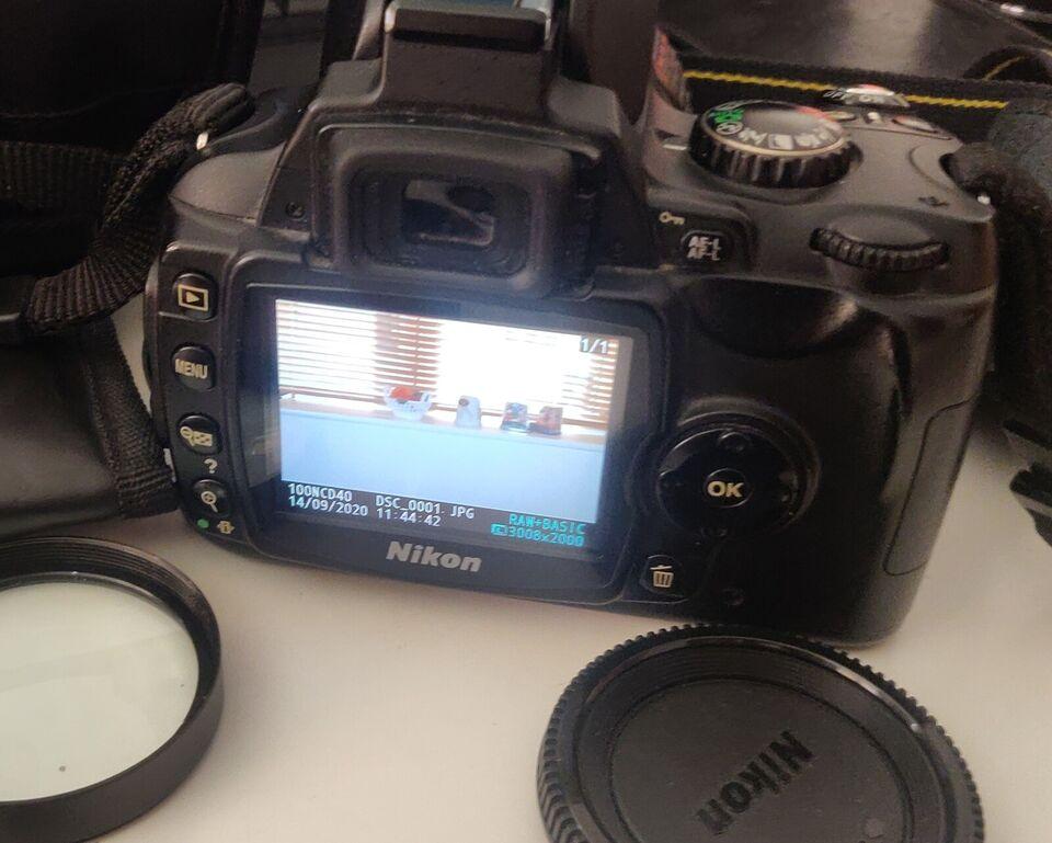Nikon D40, (18-55) x optisk zoom, God
