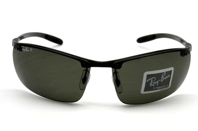 bbcdf81d976 New Sunglasses RAY BAN TECH Authentic RB 8305 082 9A Dark Carbon POLARIZED  Green
