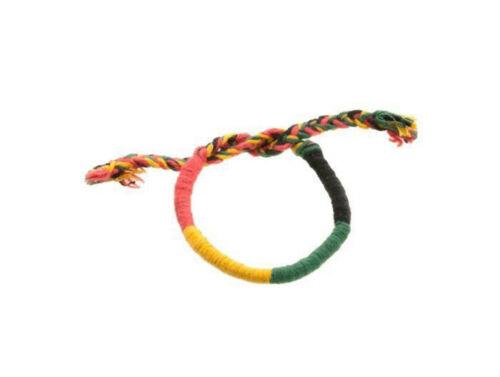 Bracelet bresilien amitie fil de coton tresse porte bonheur Jamaique rasta 8217
