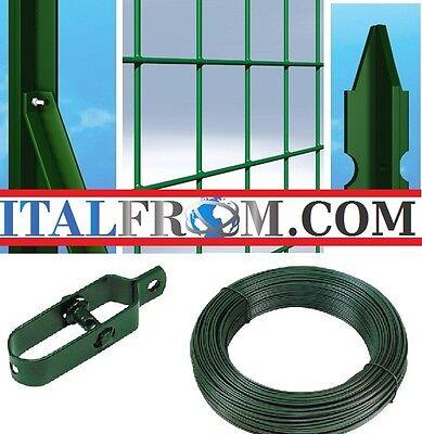 25mt-RECINZIONE RETE METALLICA PLASTIFICATA ELETTROSALDATA-H1,5mt-MAGLIA 10X5 cm