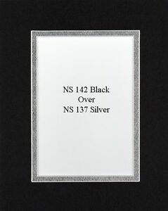 16x20 Black /& Silver Double Picture Mat Cut for 2 8x10 Pictures