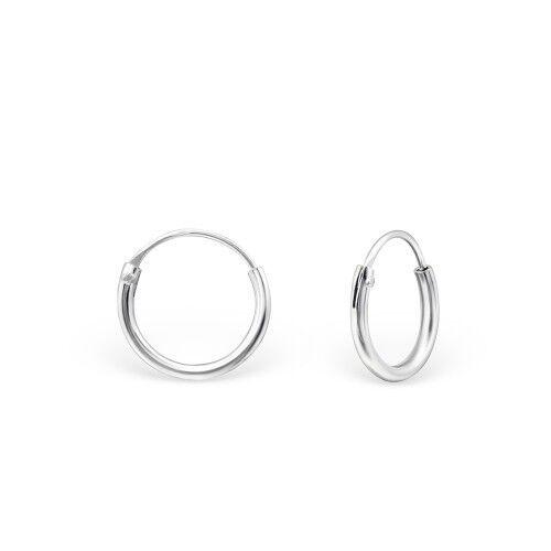 sterling silver childs//ladies hoop earrings sizes 16mm 18.5mm or 26mm