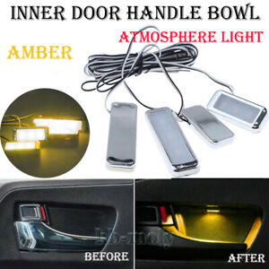 4Pcs-Amber-12LED-Inner-Door-Handle-Bowl-Armrest-Interior-Atmosphere-Decor-Light
