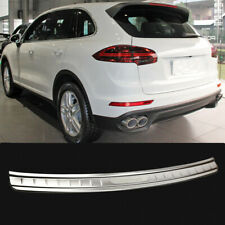 For Porsche Cayenne 15-17 Car Rear Bumper Protector Trunk Door Plate Cover