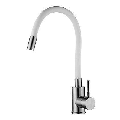 Spültischarmatur Küche Weiß Mit Flexiblem Auslauf   Wasserhahn Mischbatterie