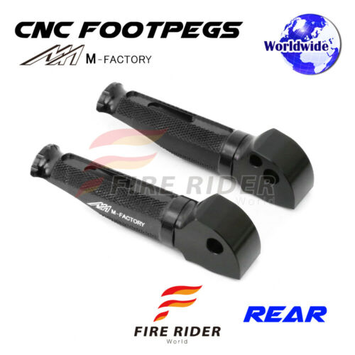 For Ducati 848 //R//EVO 2008-2013 09 10 11 12 13 FRW CNC Billet Rear Footpegs