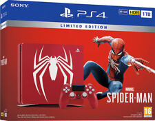 SEHR GUT: Konsole SONY PS4 1TB LIMITED EDITION MARVEL SPIDERMAN ohne Spiel