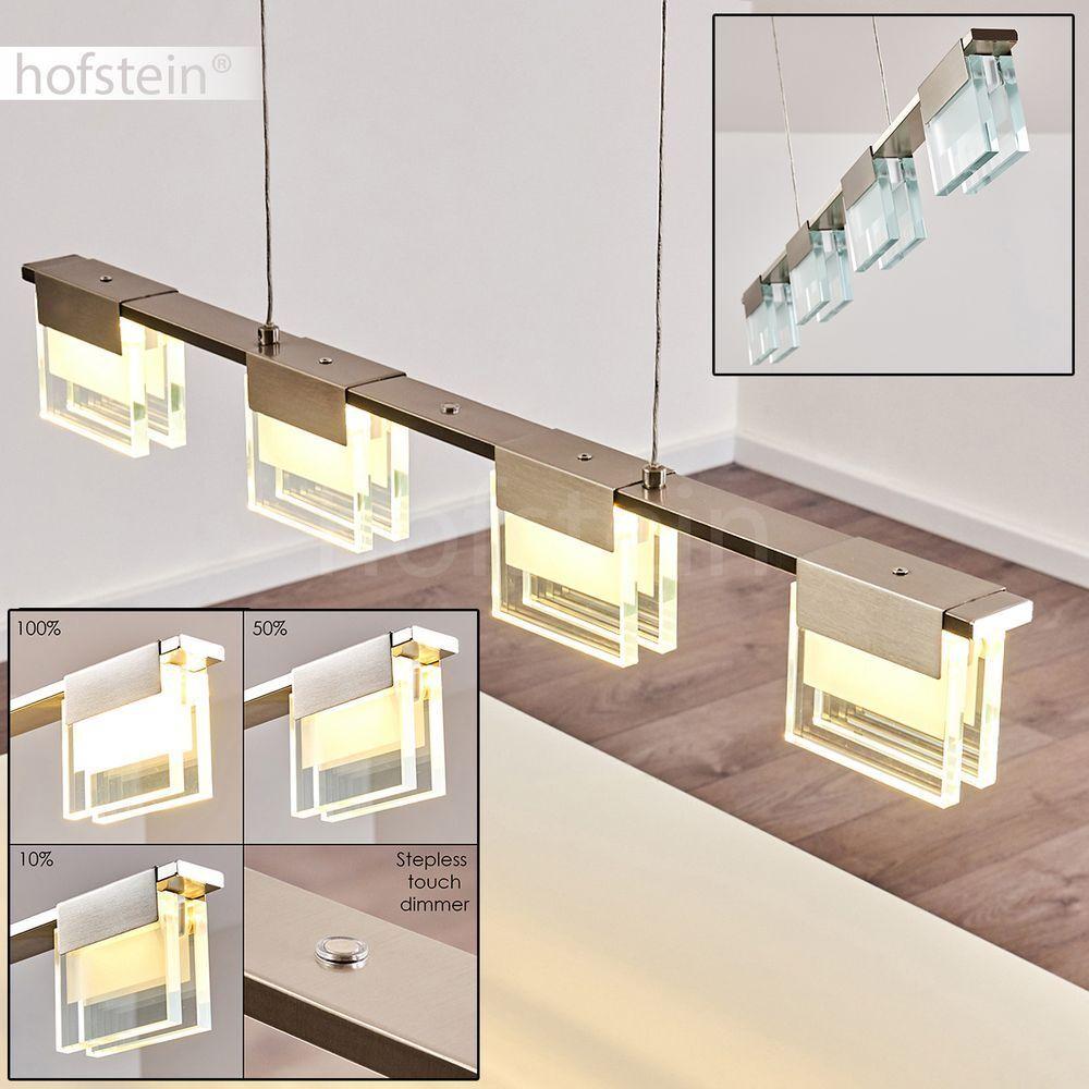 LED  Pendel Leuchte Design Wohn Schlaf Ess Zimmer Beleuchtung Dimmer Hänge Lampe