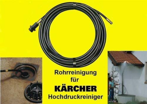 40m Pipe Cleaning Hose Pipe Tool Kit Coil For Kärcher Home K4 K5 K7