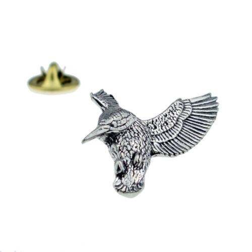 Hovering Kingfisher OISEAU English Pewter Lapel Pin Badge xtspbb 22