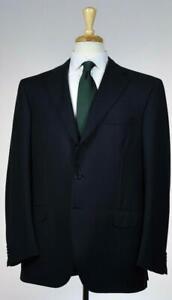 Brioni-Mens-039-Chigi-039-3-BTN-Black-Superfine-Wool-Suit-Size-44-54-R-US-NEW-6800