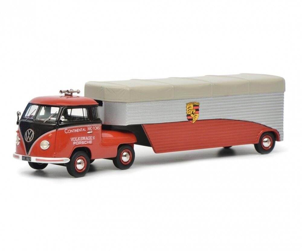 Schuco 1 43 Volkswagen T1b racing transporter Continental Motors 450905600
