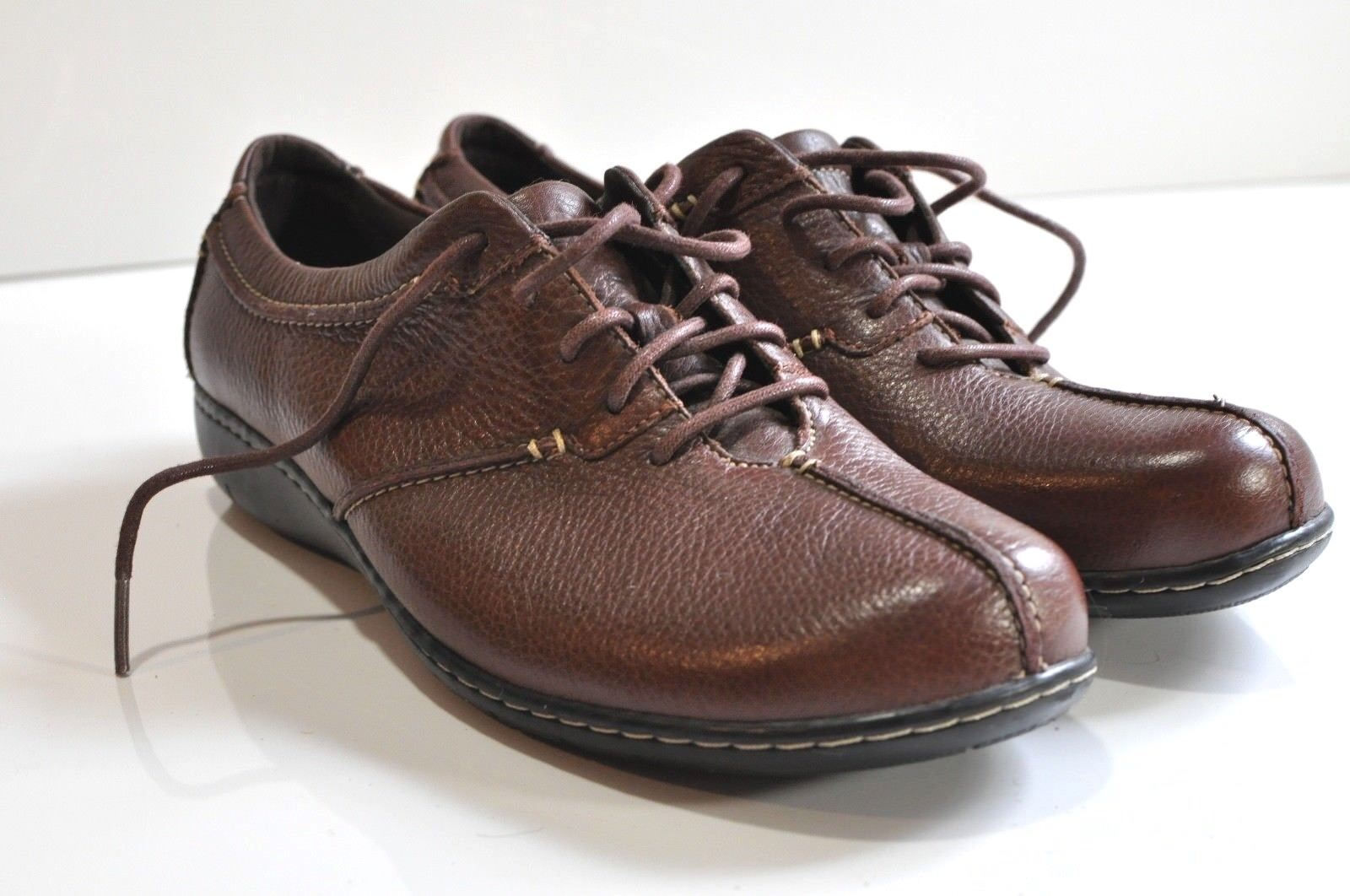 Clarks size bendables leather shoes Womens size Clarks 11 f57fb6