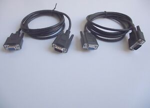 Job-Lot-5-x-RS232-Serial-Cable-DB9-Pin-Male-to-DB9-Socket-Female-1-9-Metre
