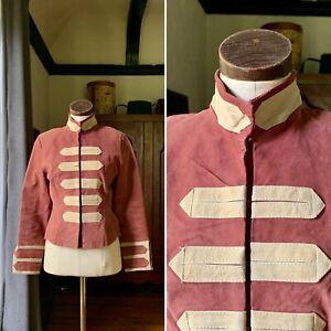 JENNYFER J Leather Suede Jacket Military Style MEDIUM