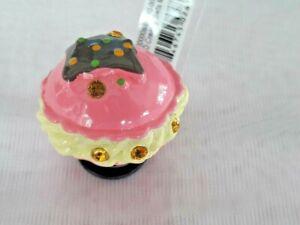 Kid-039-s-Jibbitz-3D-Creamy-Sweets-MACARON-Shoe-Charms-Pink-NEW