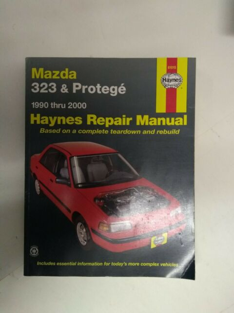 Haynes 61015 Auto Repair Manual Mazda 323  U0026 Protege 1990
