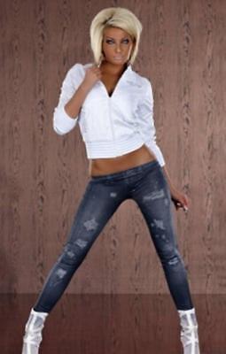 MüHsam Quality Fashionable Designer Jean Style Jeggings/leggings One Size Uk 8 -12 Bnip Hoher Standard In QualitäT Und Hygiene