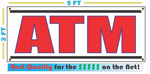 XXL ATM All Weather Banner Sign NEW Larger Size High Quality