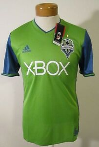 finest selection 1bea5 d8c84 Details about NWT Adidas Seattle Sounders FC 2017 Primary Authentic Jersey  Rave Green MSRP$120