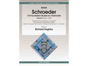 Schroeder 170 Foundation Studies for Violoncello Cello Music Book Vol 1