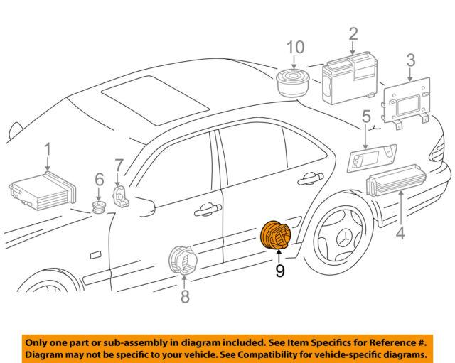Mercedes-Benz E430 Passengers Rear Door Factory Bose Speaker Audio  2108205602