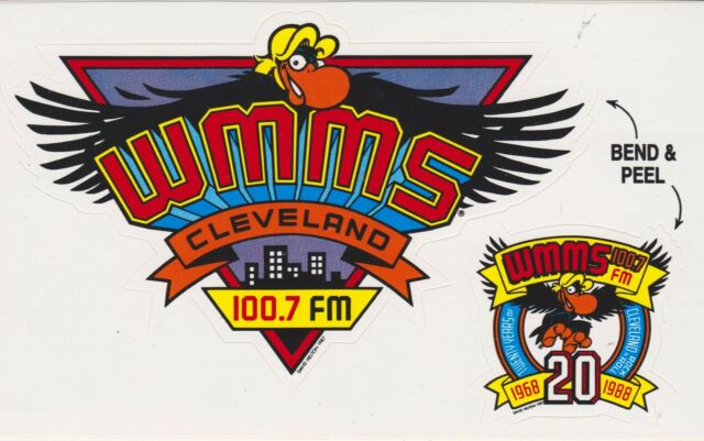 WMMS 100.7 The Buzzard MAGNET Cleveland Ohio Rock N Roll Look