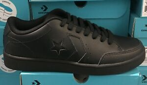 fbd1bbf90c1 Image is loading Converse-Star-Court-Ox-Leather-Black-159803C-Confort-