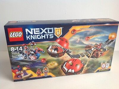 Lego 70314 Nexo Knights Beast Master/'s Chaos Chariot New Boxed With Minifigures
