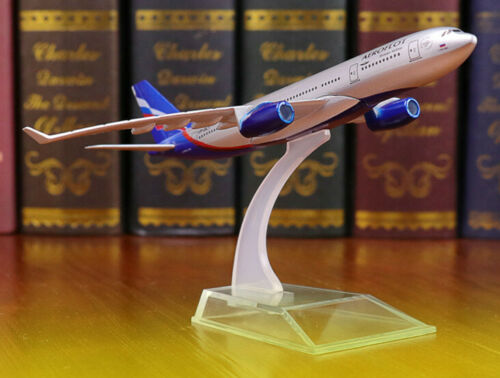 16CM 1:400 AEROFLOT Russian Airlines AIRBUS A330 Passenger Plane Diecast Model