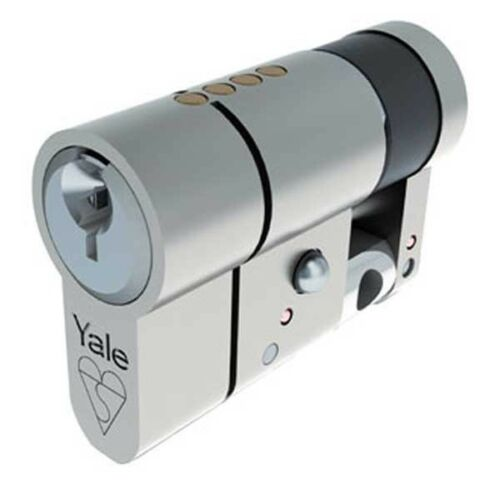 NICKLE PLATED YALE ANTI SNAP EURO SINGLE CYLINDER AS6010BN BRITISH STANDARD