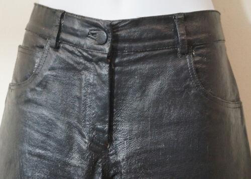 Et Sz40 Uk12 Imprimé Jitrois Pantalon De Peau Cuir En Blanc Pantalon Veau Noir Éclaboussures qAwXUa