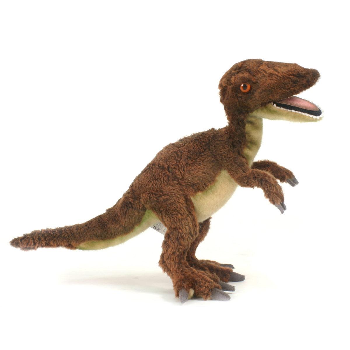 Velociraptor Dinosaur Hansa Realistic Animal Plush Toy 48cm FREE DELIVERY