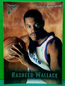 Rasheed Wallace rookie card  1995-96 Topps Gallery #52