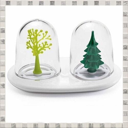 3 x 2 Seasons Salt /& Pepper Seasoning Shaker Dinnerware S//S//A//W Christmas Gift