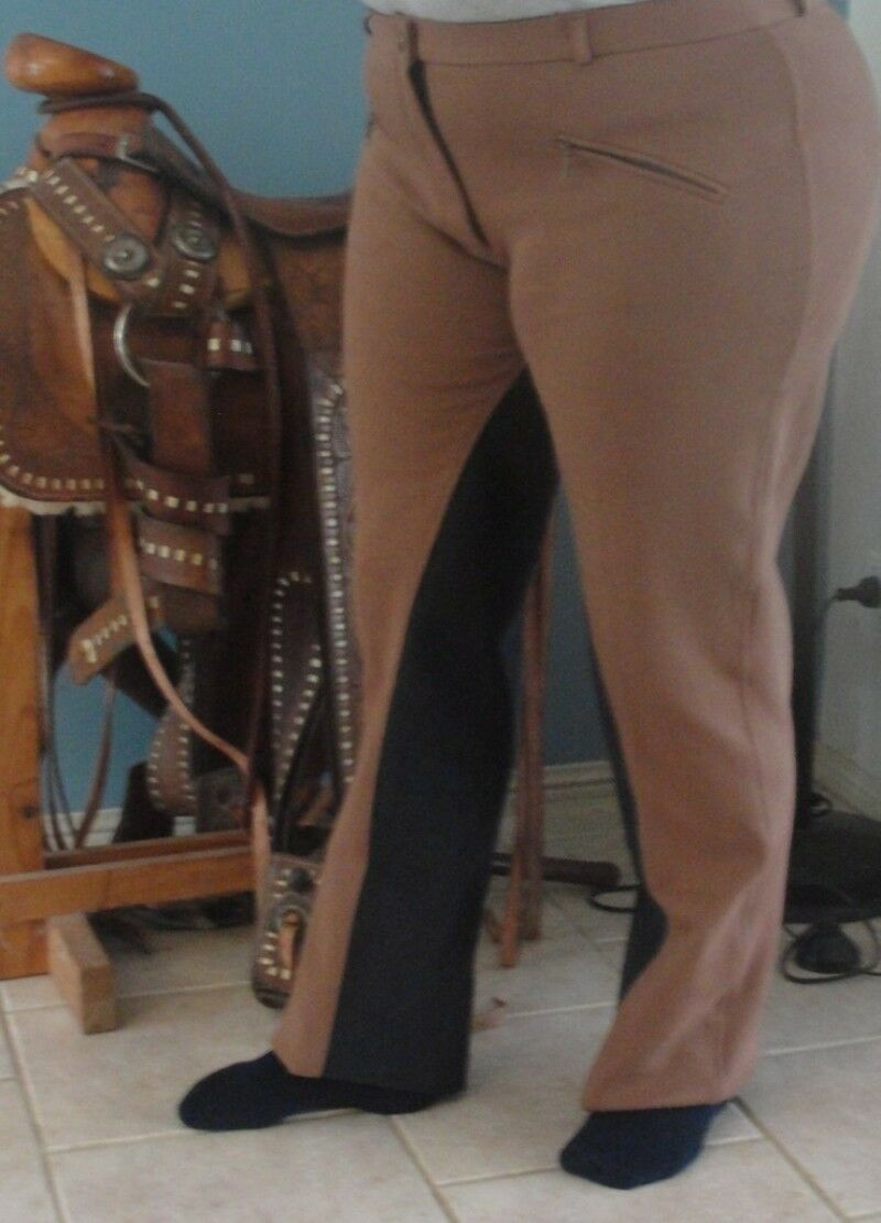 Ladies Riding Pants Boot Cut, Jodhpur brown for EXTRA comfort in bigger Sizes