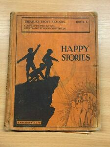 1936-Enid-Blyton-034-Happy-Stories-Livre-1-034-Treasure-Trove-Lecteurs-Cartonne
