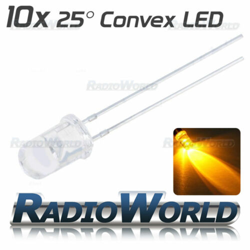 10x 3 Mm Ultra Brillante Transparente Led Diodo 2.4 V Amarillo Diodo Emisor De Luz 25 °