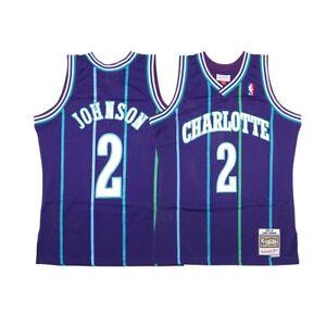 new style 8fd65 46477 Details about Larry Johnson NBA 1994-95 Charlotte Hornets Mitchell & Ness  Swingman Jersey