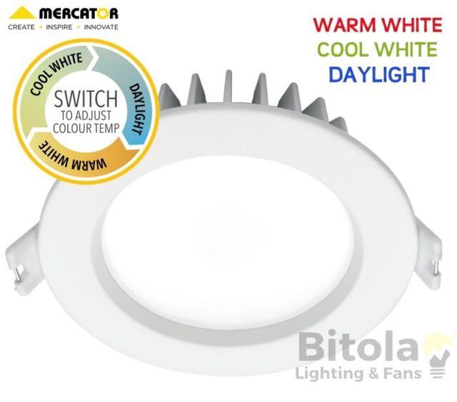 promo code ab661 ff398 2 X 10w White Dimmable LED Downlight Mercator Optica Trio CCT Tri-color  Md490w