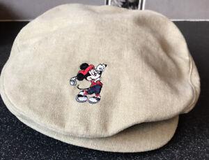Genuine Walt Disney World Mickey Mouse Pro Newsboy Cabbie Golf Cap. VERY RARE!!!