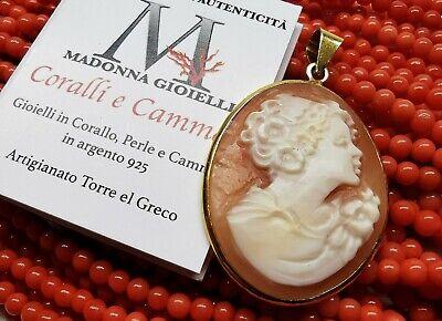 Pendente cammeo Madonna con agata Gioiello Italiano