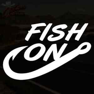 Fish on decal fishing saltwater freshwater sticker pick for Saltwater fishing decals