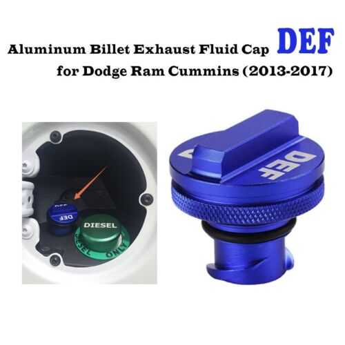 Billet Aluminum DEF Cap for 2013-17 Dodge Ram Cummins and Ecodiesel Truck
