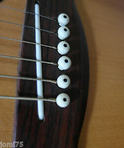 Lot-6-chevilles-Set-restauration-Blanche-Lutherie-Guitare-folk-acier-Nikel-metal