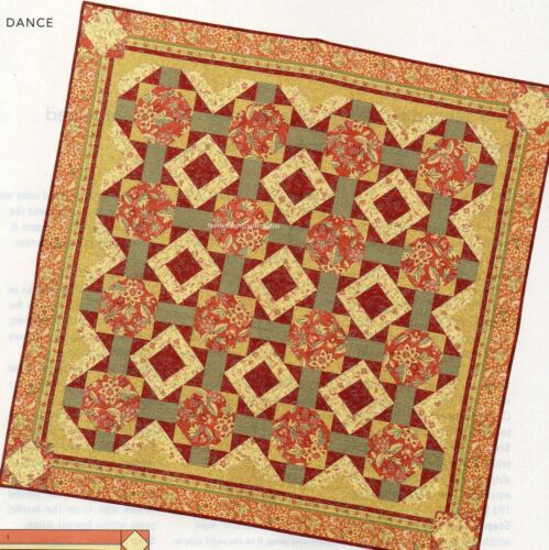 Square Dance Quilt Pattern Pieced TL