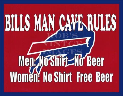 Buffalo Bills Man Cave Beer Sign Poster NFL Football