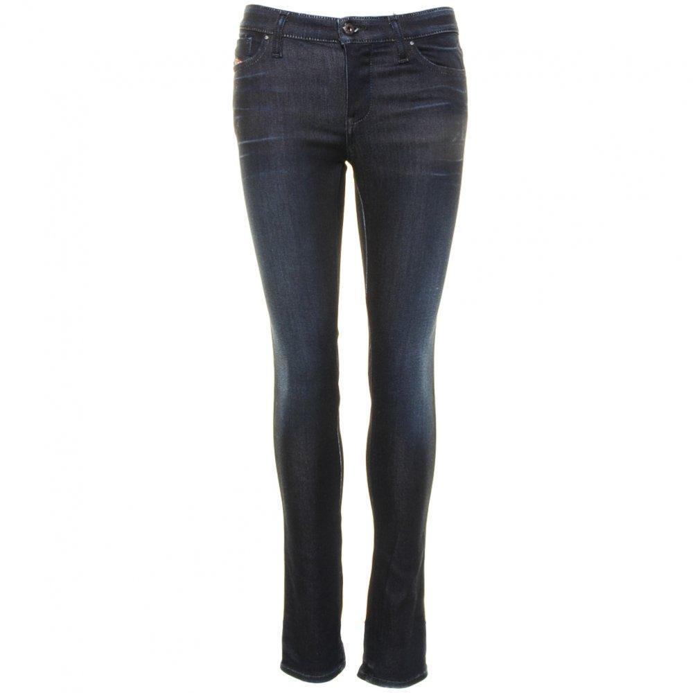 Diesel Skinzee Sateen Jeans 0834S WASH W26 L30 Skinny Stretch Dark   SALE